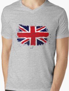 Union Jack - UK- Flag Mens V-Neck T-Shirt