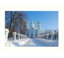 St. Nicholas Cathedral, St Petersburg, Russia Art Print