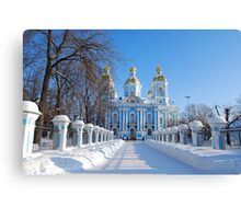 St. Nicholas Cathedral, St Petersburg, Russia Canvas Print