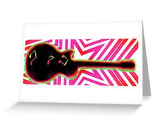 Neon Rock and Roll Greeting Card