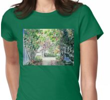 Roses in  a Swedish Courtyard Womens Fitted T-Shirt