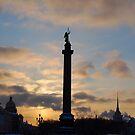 Alexander Column, St Petersburg, Russia by inglesina