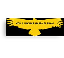 Nairo Quintana : Fight TDF2015 Yellow Logo Canvas Print