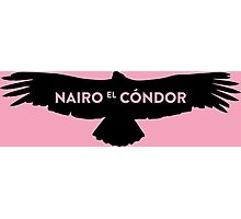 "Nairo Quintana ""El Condor"" : Black Logo on Giro Pink Photographic Print"