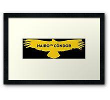 """Nairo Quintana """"El Condor"""" : TDF Yellow Logo Framed Print"""