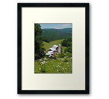Rush Branch Barn Framed Print