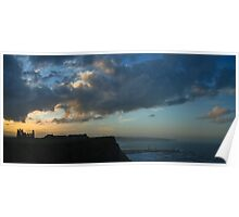 Whitby Sunset Poster