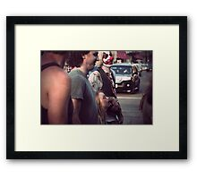 The family that eats brains together.. Framed Print