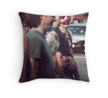 The family that eats brains together.. Throw Pillow