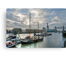 Thames River View: London, UK. Canvas Print