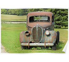 Rusted Antique Truck Poster