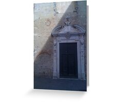 Medieval Doorway Architecture Albenga, Italy Greeting Card