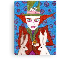 Mad Hatter Portrait Canvas Print