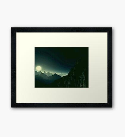 Moonlight Arches Framed Print