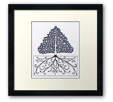 symmeTREE Framed Print