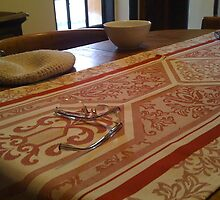 Roman Antiquity -  Italian Table Cover by Amos White