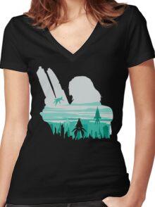 Reaper invasion of Earth (Femshep) Women's Fitted V-Neck T-Shirt
