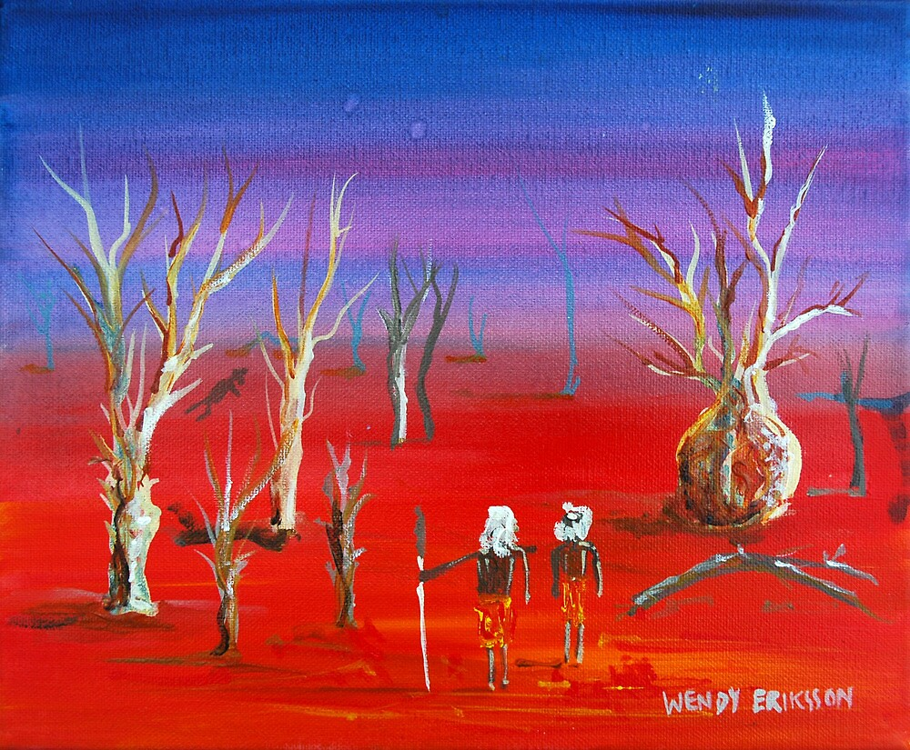 Sundown Outback by Wendy Eriksson