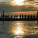 Sunset at St Annes  by Lilian Marshall