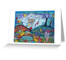 Kitty Dreams-acrylic Greeting Card