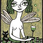 Powder Puff Absinthe by Anita Inverarity