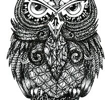 Intricate Owl by maxineviveiros