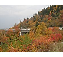 Viaduct on the Blue Ridge Parkway, Fall Photographic Print