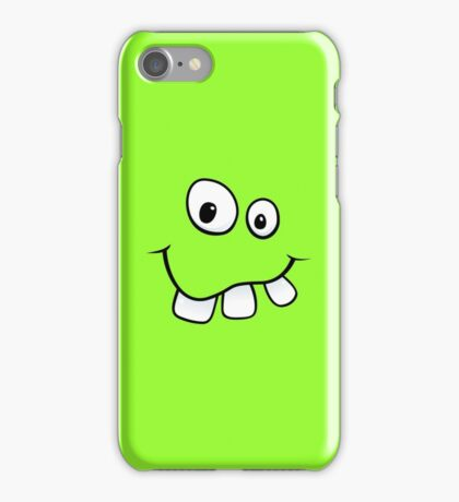 Silly, goofy face with big teeth green iPhone case iPhone Case/Skin