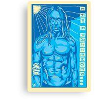 Blue Iggy the Ultimate Passenger Canvas Print