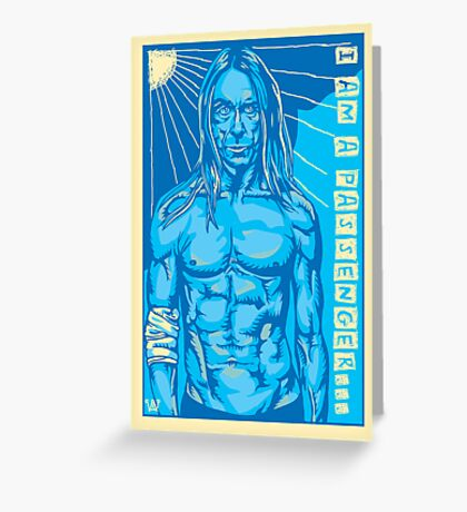 Blue Iggy the Ultimate Passenger Greeting Card