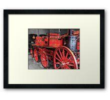 Antique Fire Engine Framed Print