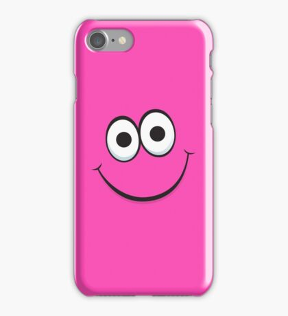 Happy hot pink face iPhone case iPhone Case/Skin