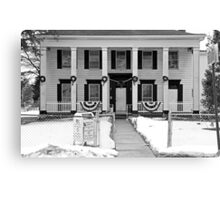 Southern Style House in NY-b&w Canvas Print