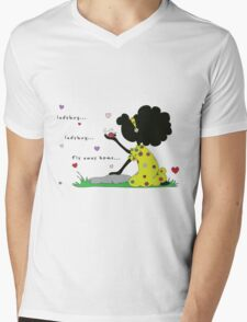 "Sister: ""Ladybug... Fly away home..."" Mens V-Neck T-Shirt"