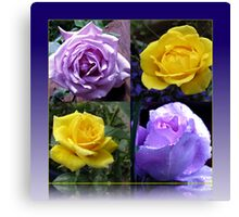 Exquisite Roses Collage Canvas Print