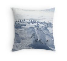 Snow Ghosts Throw Pillow