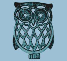 cyan owl by Diego Callegari