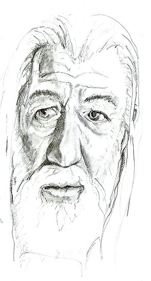 Gandalf - Ian McKellen by Sally O'Dell