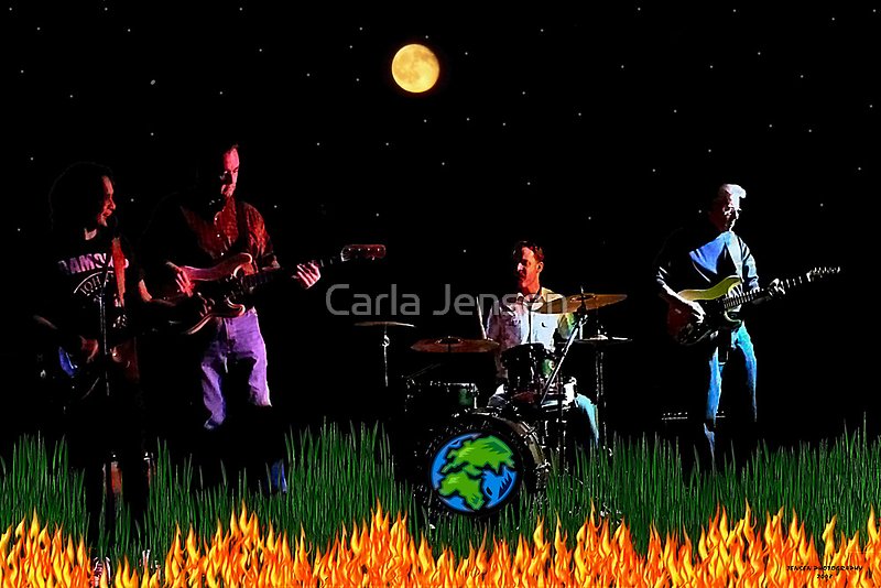 Burt Herrin and the Global Warming Band by Carla Jensen