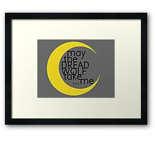 May the Dread Wolf Take... Me (yellow/black) Framed Print