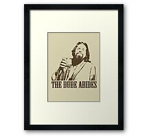 The Big Lebowski The Dude Abides T-Shirt Framed Print
