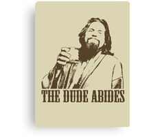 The Big Lebowski The Dude Abides T-Shirt Canvas Print