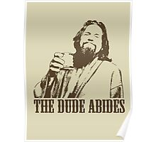 The Big Lebowski The Dude Abides T-Shirt Poster