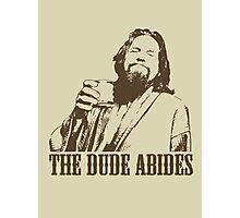 The Big Lebowski The Dude Abides T-Shirt Photographic Print