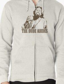 The Big Lebowski The Dude Abides T-Shirt Zipped Hoodie