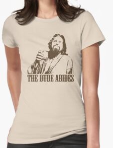 The Big Lebowski The Dude Abides T-Shirt Womens Fitted T-Shirt