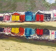 Bathing Box Reflections by gillsart