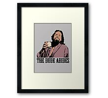 The Big Lebowski The Dude Abides Color T-Shirt Framed Print