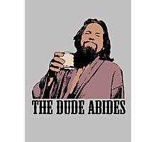 The Big Lebowski The Dude Abides Color T-Shirt Photographic Print