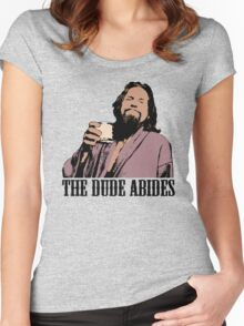 The Big Lebowski The Dude Abides Color T-Shirt Women's Fitted Scoop T-Shirt